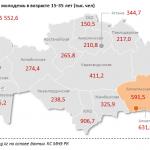 Трудовой потенциал страны сосредоточен в Алматы и прилегающей области: здесь сконцентрировано сразу 22% трудоспособной молодежи РК