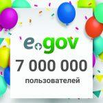 В Казахстане зарегистрирован 7-миллионный пользователь  портала eGov