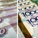 Тенге растет против рубля, но падает в паре с долларом